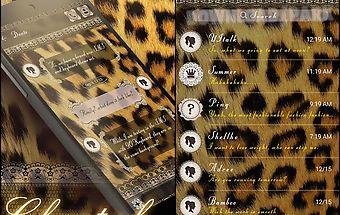 (free) go sms cheetah theme