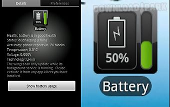 Battery watcher widget