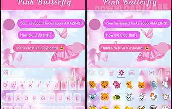 Pink butterfly ikeyboard theme