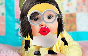 Yellow minion face maker
