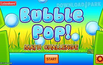 Bubble pop math challenge 1-2