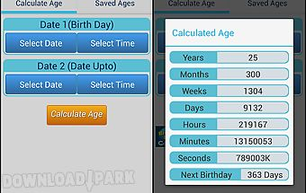 Easy age calculator