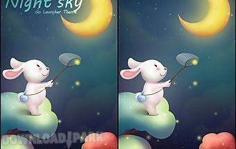 Night sky go launcher theme