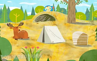 Peekaboo goes camping game