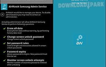 Airwatch samsung service