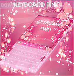 pink keyboard rose theme