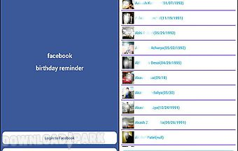 Facebook birthday reminder