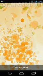 leaves 3d live wallpaper