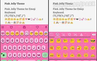 Pink jelly emoji keyboard skin