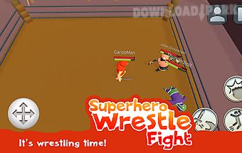 Superhero wrestle fight