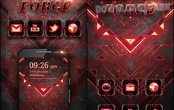 Dark forge go launcher theme