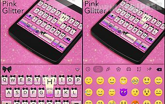 Pink glitter theme keyboard