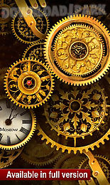 free gold clock live wallpaper