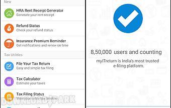 Income tax return filing app