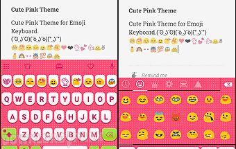Cute pink love emoji keyboard