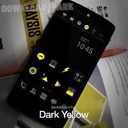 darkyellow line launcher theme
