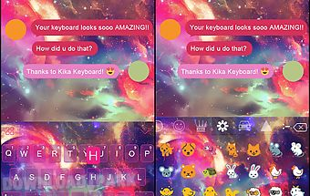 Galaxy kika keyboard theme