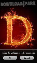 fire letter 3d