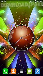 clock with butterflies