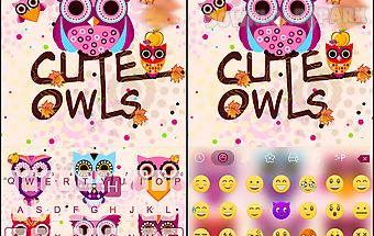 Cute owls for emoji ikeyboard