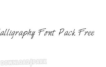 ★ calligraphy font - rooted �..