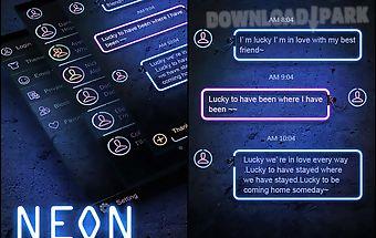 (free) go sms pro neon theme