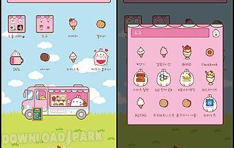 Molang loves icecream dodol