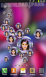 photo bubbles live wallpaper