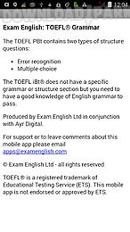 exam english: toefl® grammar