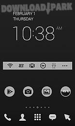 grey in black dodol theme