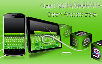 Slideit kiwi bubbles skin