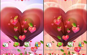 Valentine heart launcher theme