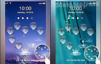Lock screen water heart