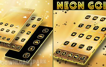 Neon gold theme go launcher