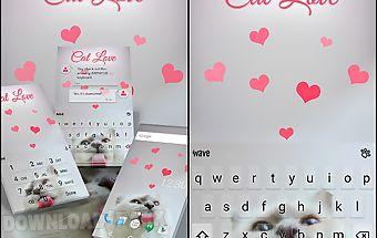 Cat love animated keyboard
