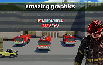Firefighter emergency truck