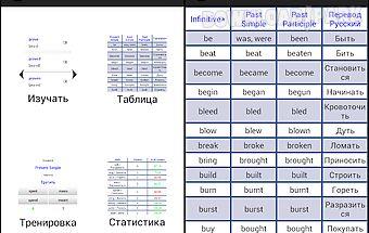 Irregular verbs. english.