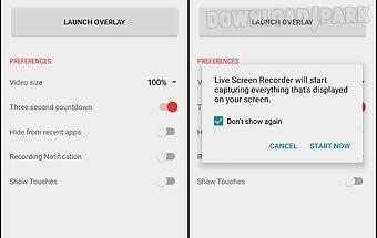 Live screen recorder