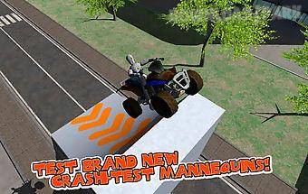 Car crash test simulator 3d