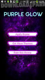 go keyboard purple glow theme