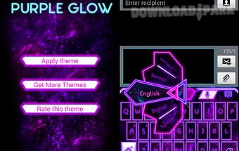 Go keyboard purple glow theme