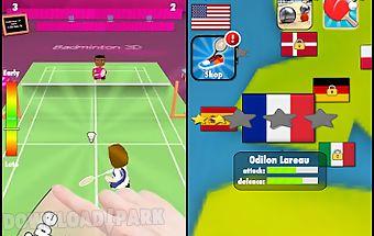 Badminton smash 3d