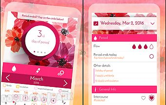 Period calendar, cycle tracker
