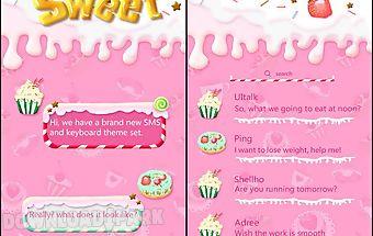 (free) go sms sweet theme