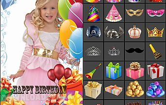 Birthday photo frames and access..