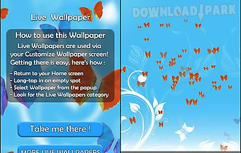 Butterflies live 3d wallpaper