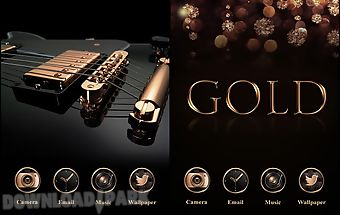Gold go launcher theme