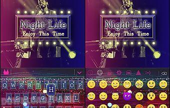 Nightlife kika keyboard theme