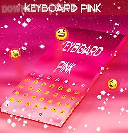 pink keyboard hearts glow
