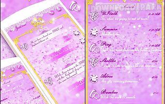 (free) go sms purple glitter